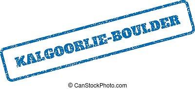 Kalgoorlie-Boulder Rubber Stamp - Blue rubber seal stamp...