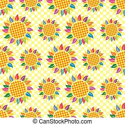 Seamless background with sunflowers. - Seamless background...
