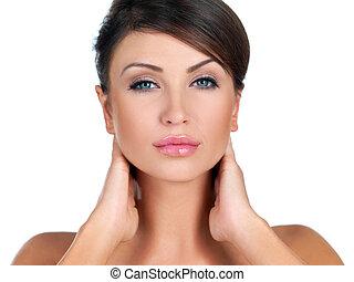 Portrait of beauty - Portrait of beautiful woman she is...