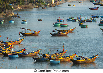Fishing village in Mui Ne, Vietnam, Southeast Asia