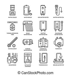Water heater, boiler, thermostat, electric, gas, solar...
