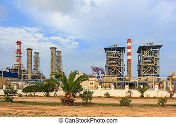 Sousse thermal power plant in Tunisia - View to Sousse...