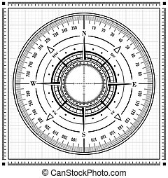 Radar compass rose