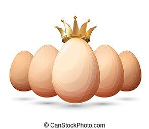 Best chicken egg design - Best eggs design template. Eco...
