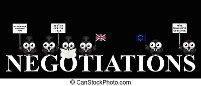 Monochrome UK exit negotiations from the European Union -...