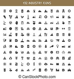 Collection industry icons - Set of icons the industry. A...