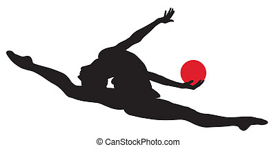 Rhythmic gymnastic - Abstract vector illustration of...