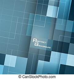 Vector square symmetrical abstract background. - Vector...