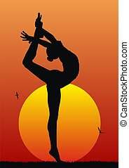 Rhythmic gymnastic - Abstract illustration of rhythmic...