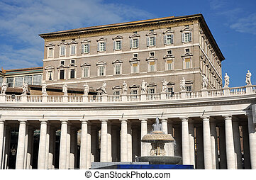 The Papal apartments in the Vatican city - VATICAN CITY -...
