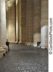 Colonnades of Bernini in the San Pietro square - Colonnades...