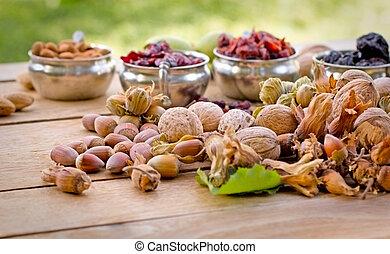 Vegetarian (vegan) food is healthy food - seasonal fruits on...