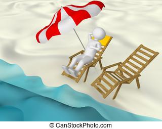 Man in the beach