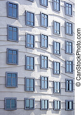 Modern architecture - windows on the dancing house