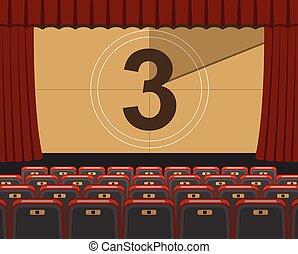 cinema auditorium with seats - empty cinema auditorium flat...