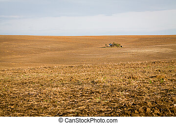 Moravian Fields. The landscape around Kyjov called the...