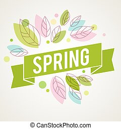 Fresh vector design for banners, greeting cards, spring...