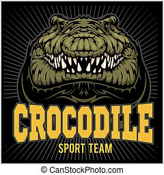 Crocodile mascot for a sport team. Vector illustration.