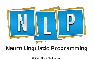 NLP Blue Blocks - NLP and its full form written over blue...