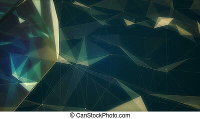 Fractal plexus abstract animation 3d