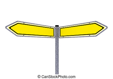 Traffic signs over white background