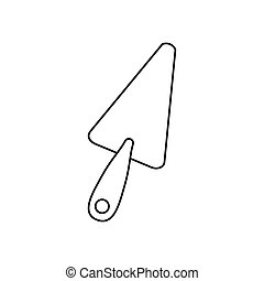 contour line monochrome with putty knife vector illustration
