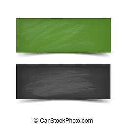 School board banner set. Realistic vector illustration of...