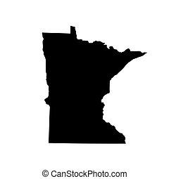 Map of the U.S. state Minnesota