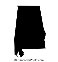map of the U.S. state Alabama - map of the U.S. state of...