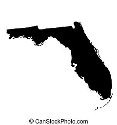 map of the U.S. state Florida