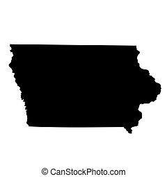 map of the U.S. state Iowa - map of the U.S. state of Iowa