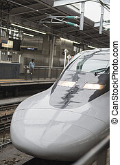 KYOTO, JAPAN - AUGUST 12: JR700 shinkansen bullet train...