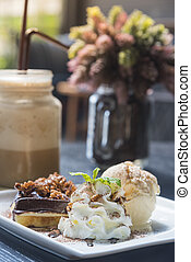 food and drink in coffee shop