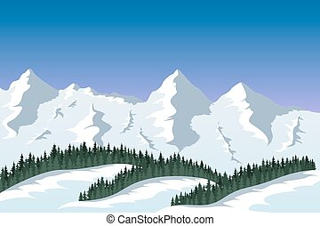 mountain range landscape - picture of a mountain range with...