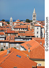 roofs of Zadar - vertical photo of Zadars ancient houses