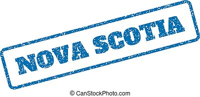Nova Scotia Rubber Stamp - Blue rubber seal stamp with Nova...