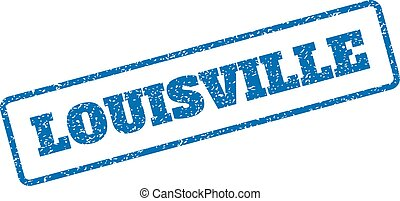 Louisville Rubber Stamp - Blue rubber seal stamp with...