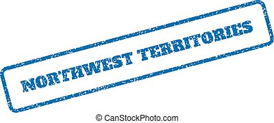 Northwest Territories Rubber Stamp - Blue rubber seal stamp...