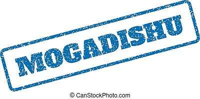 Mogadishu Rubber Stamp - Blue rubber seal stamp with...