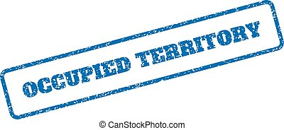 Occupied Territory Rubber Stamp - Blue rubber seal stamp...