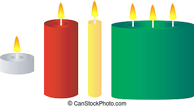 Set of Various Candles