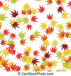 autumn leaves - Seamless pattern of autumn maples leaves...