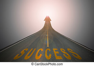 business concept background - The success words on the...