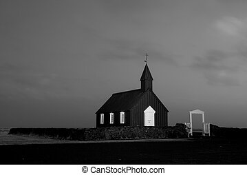 Old countryside church in Iceland