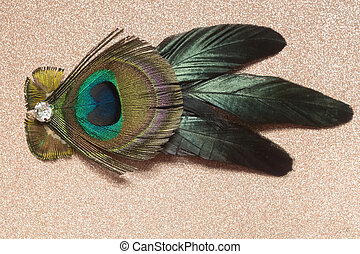Peacock Feather Hair Clip - Fashion hair clip decorated with...