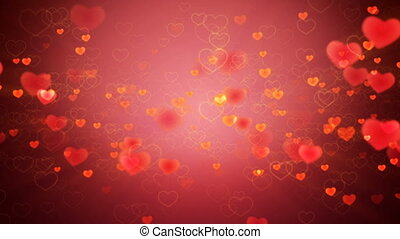 Hearts background - Valentines Hearts background. Looped.