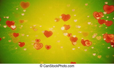 Hearts background. - Valentines Hearts background. Looped.