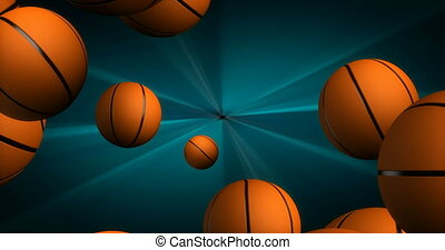 Spawn of Basketballs Background