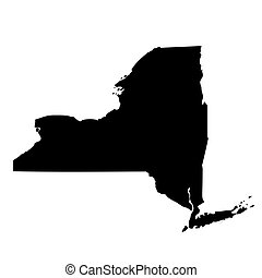map of the U.S. state New York