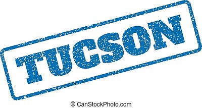 Tucson Rubber Stamp - Blue rubber seal stamp with Tucson...